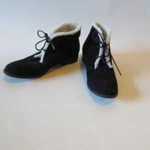 DOLCE VITA BLACK SUEDE FAUX SHEARLING BOOTS SZ 10